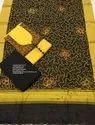 Nihira Designs Unstitched Supernet Salwar Suit, Dry Clean