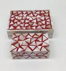 Divian Mother Of Pearl Inlay Jewelry Box