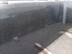 Polished South Telephone Black Granite Slab, For Flooring, Thickness: 15-20 mm