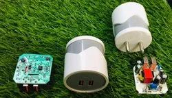 Electric White Round Shape 3.1Amp Cell Phone Adapter, For Mobile Charding, 5 V