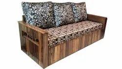 3 Seater Wooden Sofa Cum Bed