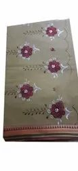 Rupal's Embroidery Ladies Cotton Designer Saree, With blouse piece, 6 Meter
