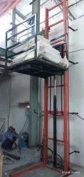 Hydrolic Single Mast Goods Lifts 01 Ton Capacity 15 Ft Height