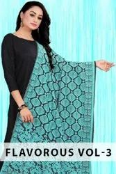 Flavorous Vol-3 Knitting With Additional Work Dupatta Catalog Collection