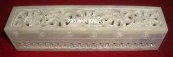 Natural Soapstone Pencil Box And Incense Fragrance Box