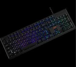 Black Base Blue Light Gaming Keyboard