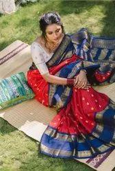 Present Kanchipuram Silk Saree With Good Looking Design