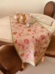 TheDesignStation Multicolor Jacquard Table Runners, Size: 14 Inches X 72 Inches