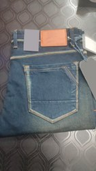 Faded Gray Mens Regular Fit Denim Jeans, Waist Size: 28