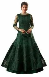 Embroidery Ladies Designer Net Gown