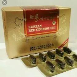 Boost Energy Korean Red Ginseng Capsules, Grade Standard: Food Grade, Packaging Size: 10*1*10