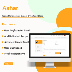 Aahar Recipe Management System & Top Tood Blogs