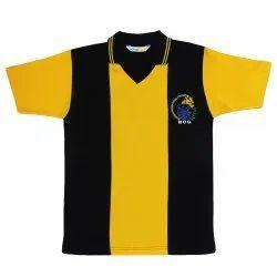 Summer Cotton Black Yellow School Tshirt
