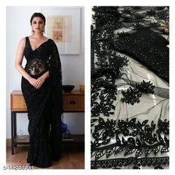 Party Wear Printed Faishionable Womens Saree, With Blouse Piece, 5.5 M (separate Blouse Piece)