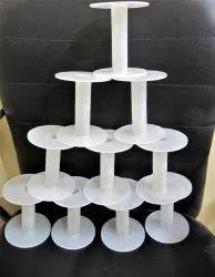 White Plastic Spools Empty Wire Spools Thread String Bobbin For Craft Cord Rope Chain Roll A4