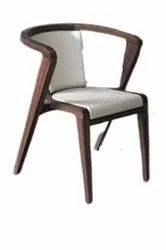 Jassi Brothers Brown + White Restaurant Modern Wooden Chair, Seating Capacity: 1