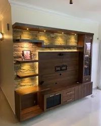 Bhoomi Enterprises Free Unit Brown Wooden Led TV Cabinet, For Home
