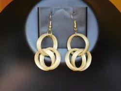 Bamboo Round Earrings