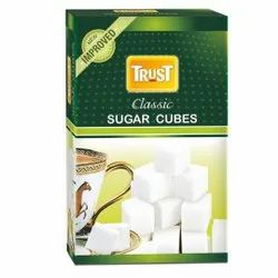 White Packet Trust Classic Sugar Cube, Packaging Size: 500 G