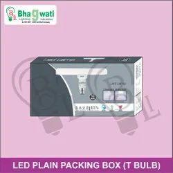 10W LED T Bulb Plain Packing Box