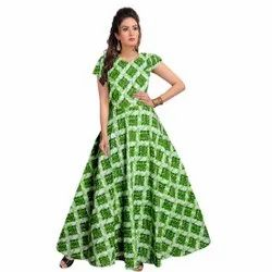 Women Printed Gown, Size: Free Size