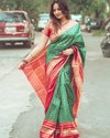 Present Lichi Silk Designer Saree