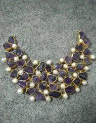 Party Wear Dazzle Gemstone Necklace