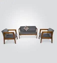 4 Seater Wooden Sofa Set, For Home