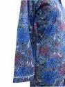 Cotton Printed Night Suit With White Piping