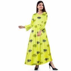 Green Long Kurta, Size: XL