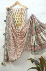 Unstitched Ladies Cotton Suit Material, Handwash