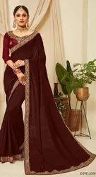 Maroon Designer Saree