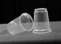 Transparent Plain 200 ML Disposable Plastic Glass