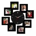 Picrazee Black Photo Insert Wooden Collage Clocks, Size: 24 X 24 Inches, Model Name/number: Opc 1