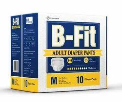 B Fit Economy Adult Diaper Pants, Size: Medium