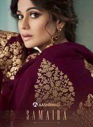 Aashirwad Creation Samaira Georgette With Work Designer Suit Catalog