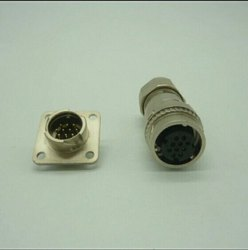 Fanuc Encoder Connector A06B-6114-K200S/E 10 Pin Male/Female Metal, 24v Dc