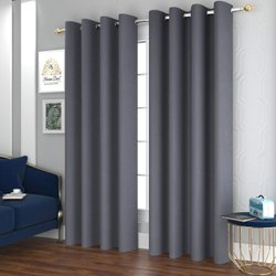 Nirwana Decor Menadel Blackout Silk Curtain for Living Room