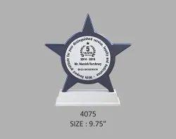Wooden Star Shape Trophy
