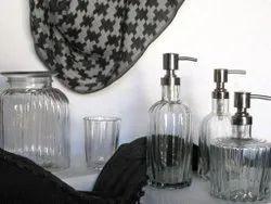 Glass Bath Set