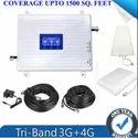 Tri Band White 3g 4g Mobile Network Amplifier Antenna Full Kit - 1500 Sq. Feet