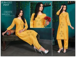 Silk Formal Wear Embroidered Designer Suits, Size: Medium