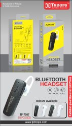 TP Troops Wireless Headset Colour 7007  (Box -50)  Earphone