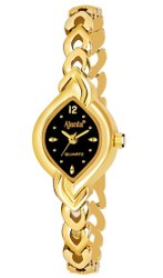 Black Formal Wear Ajanta Analogue Golden Bracelet Watches for Women - AQ402MRL