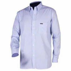 Plain White Mens Cotton Full Sleeve Corporate Shirt, Machine wash