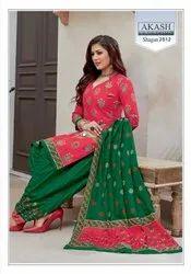 Cotton Multicolor Akash Creation Launched Shagun Vol 25, For New
