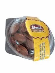 Simla Brown 400 gm Chocolate Badam Bakery Biscuit Container