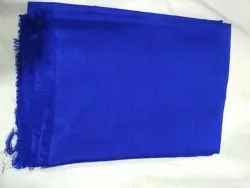Blue Plain Pure Silk Fabric