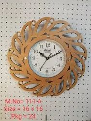 National Multicolor Wooden Wall Clock, For Multiple, Size: Multi