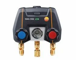 Testo 550i- Smallest App-controlled digital manifold with Bluetooth and 2-way valve block